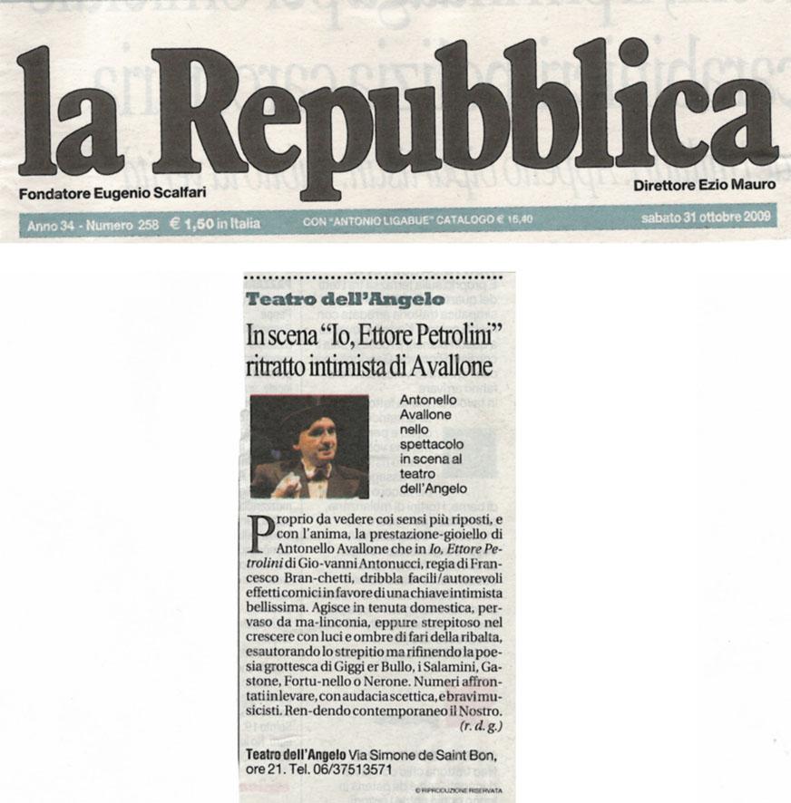 Teatro dell 39 angelo for Sito la repubblica